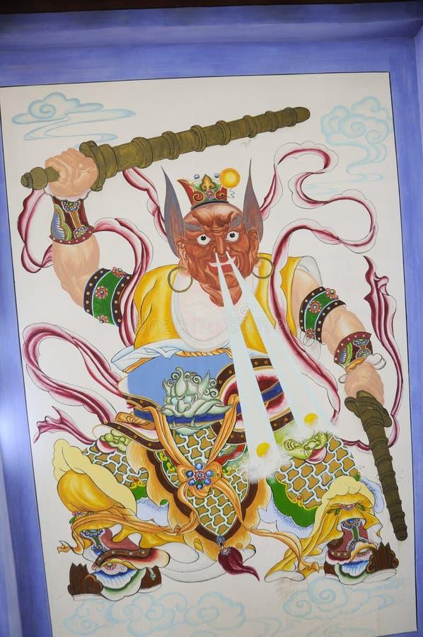 Arte tibetana antiga da pintura imagens de stock