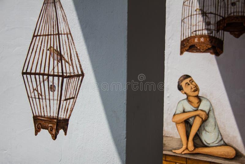Arte Tiong Bahru della parete fotografia stock