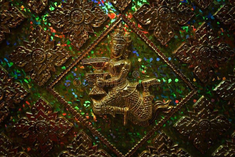 Arte tradicional tailandés Fondo tailandés del arte imagen de archivo