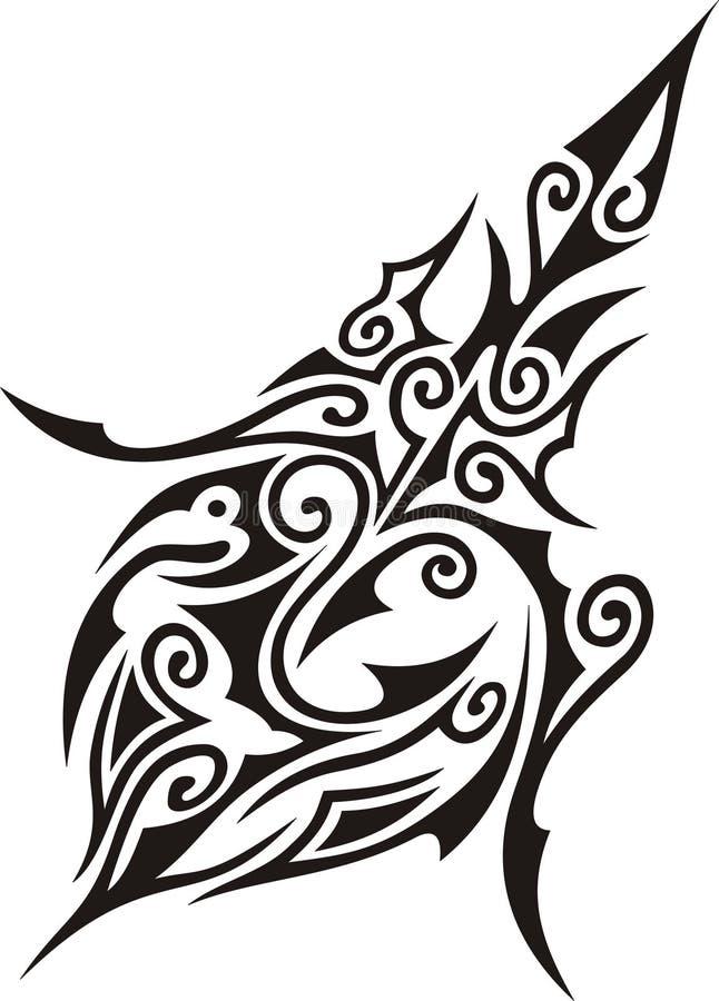 Arte tribal imagem de stock