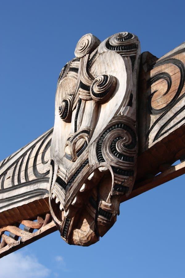 Arte tribal maorí imagen de archivo