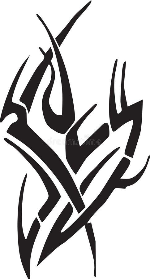 Download Arte tribale immagine stock. Immagine di tatuaggio, tribale - 217453