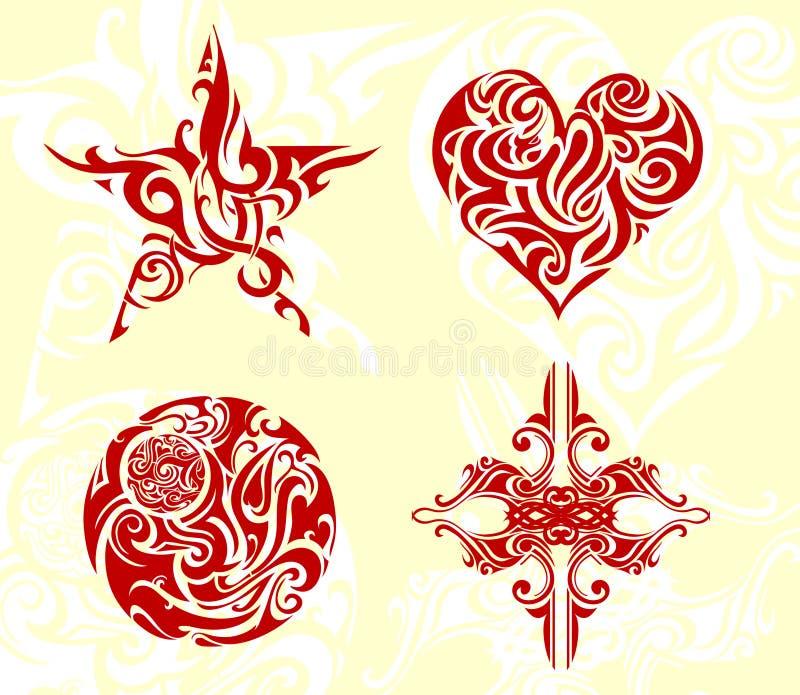 Arte tribale illustrazione di stock