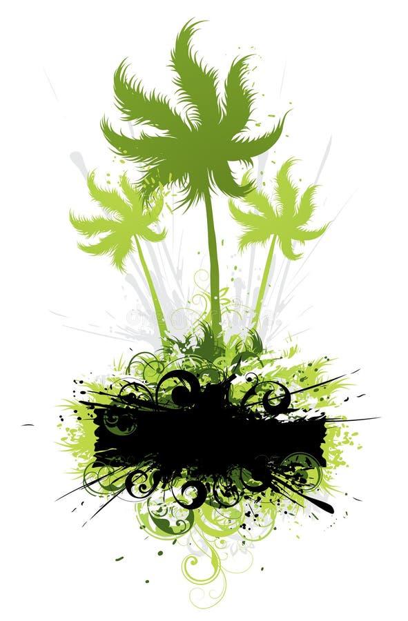 Arte tropical floral ilustração do vetor