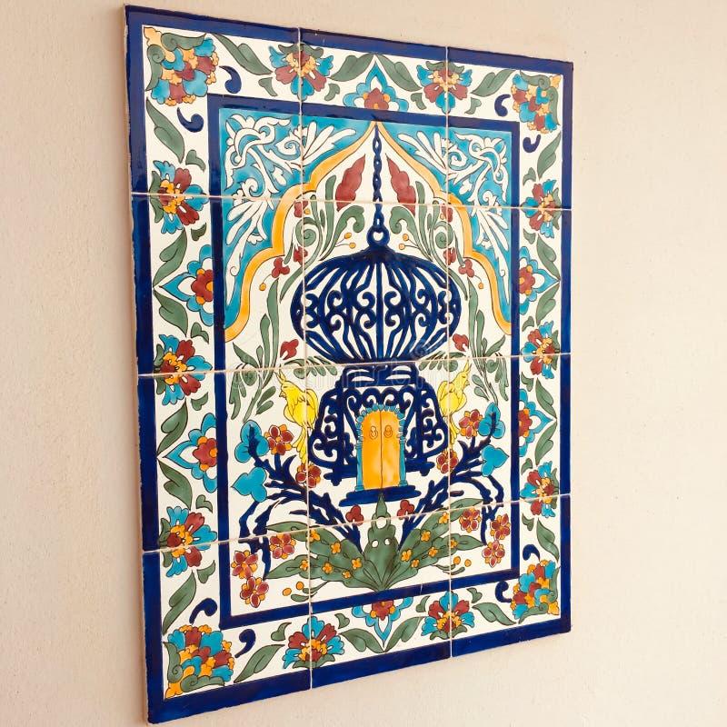 Arte tunisina do mosaico imagem de stock