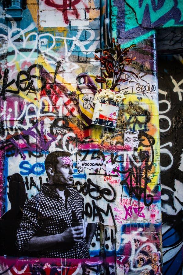 Arte urbana da rua de Melbourne imagem de stock royalty free
