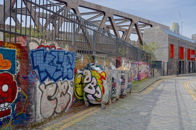 Arte urbana della parete in via di Londra fotografie stock
