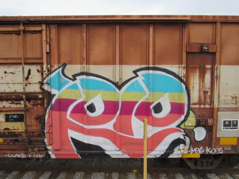 Arte urbana do carro de trem imagem de stock royalty free