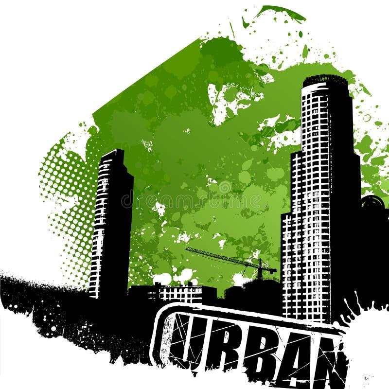 Arte urbana do vetor ilustração do vetor