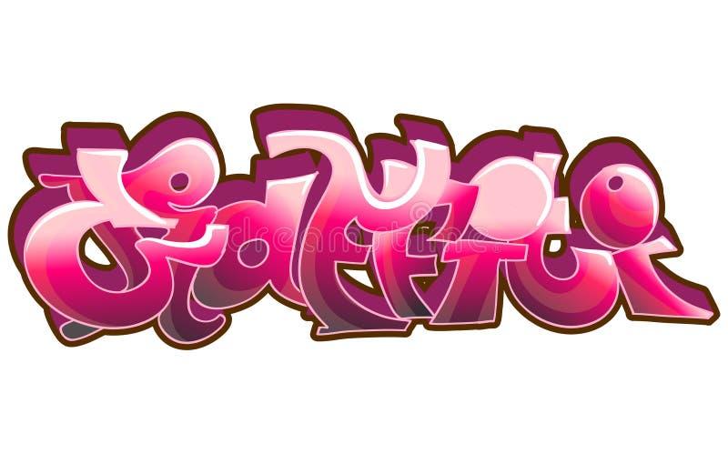 Arte urbana dos grafittis ilustração stock