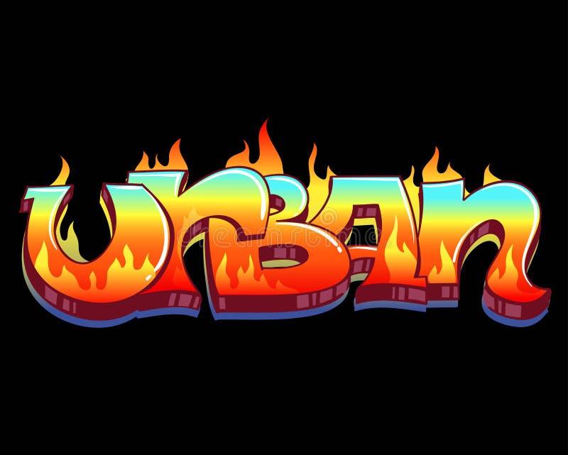 Arte urbana dos grafittis ilustração do vetor