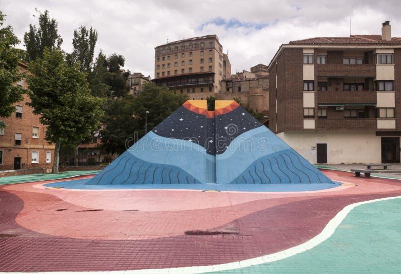 Arte urbana no centro da cidade Arte conceptual lifestyle imagens de stock