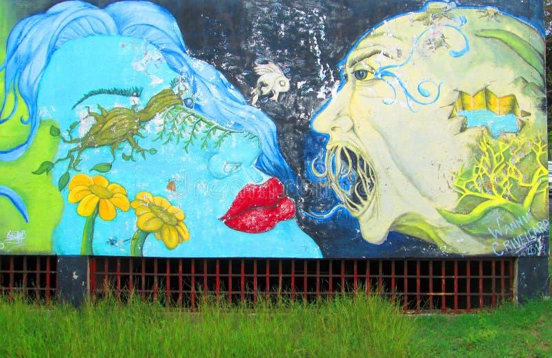 Arte urbano Beso fotografía de archivo libre de regalías