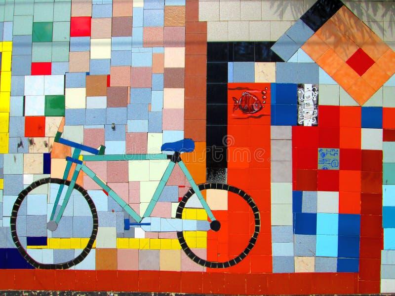 Arte urbano, colores biking del mosaico, Venezuela foto de archivo libre de regalías