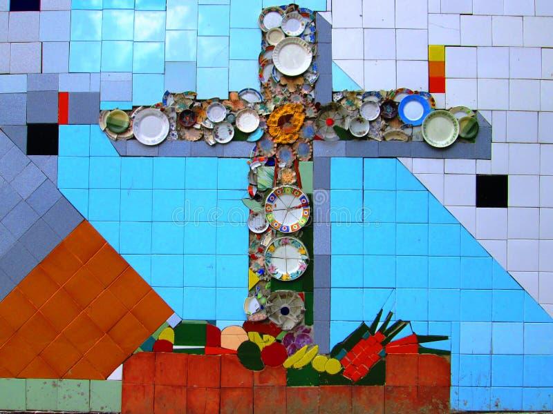 Arte urbano Cruz imagenes de archivo