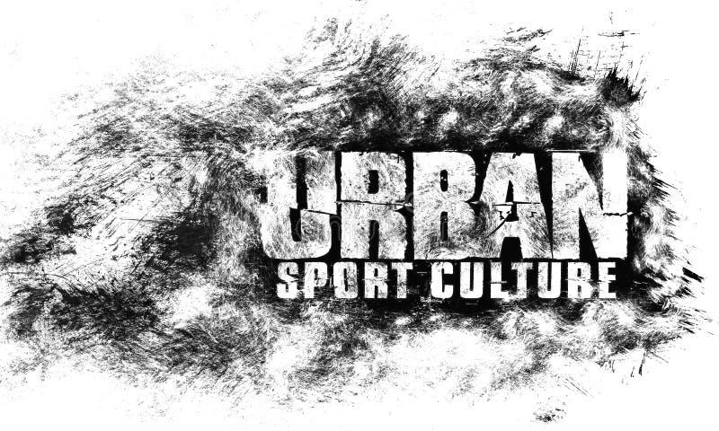 Arte urbano de la ciudad Estilo del gráfico del deporte de la calle Impresión elegante de la moda Ropa de la plantilla, tarjeta,  stock de ilustración