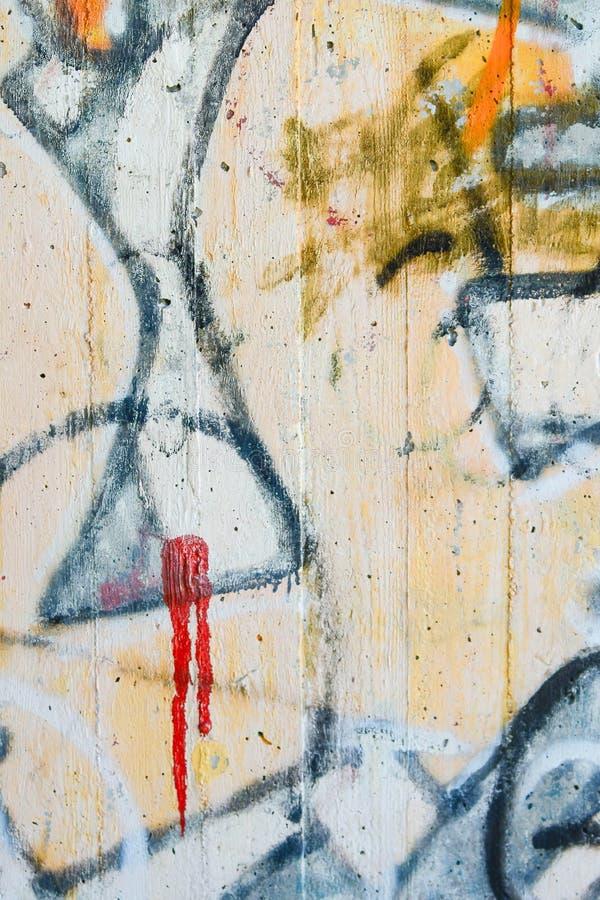 Arte urbano de la pintada colorido y abstracto fotos de archivo libres de regalías