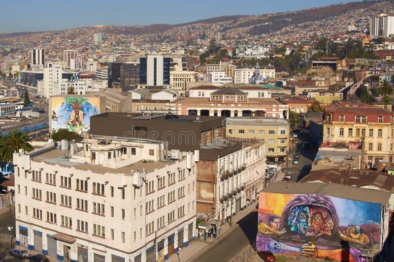 Arte urbano de Valparaiso fotografía de archivo