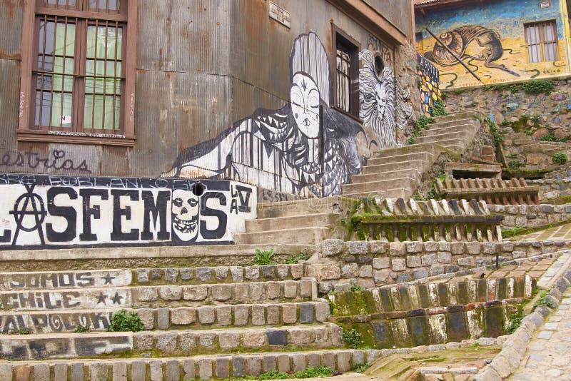 Arte urbano de Valparaiso fotografía de archivo libre de regalías