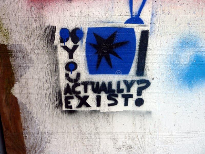 Arte urbano surrealista de la calle de la plantilla foto de archivo libre de regalías