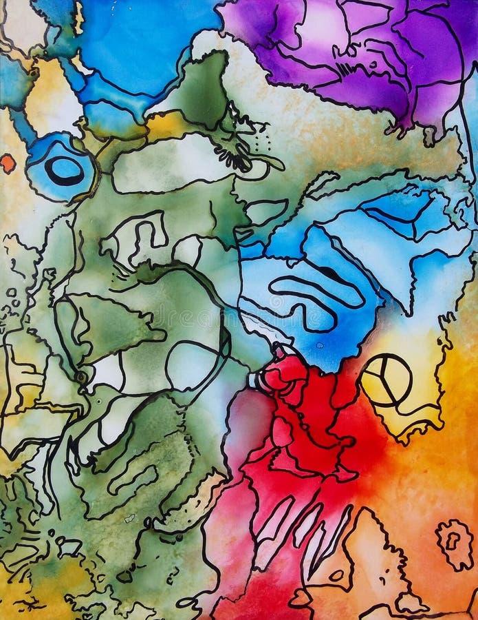 Arte y alma ilustración del vector