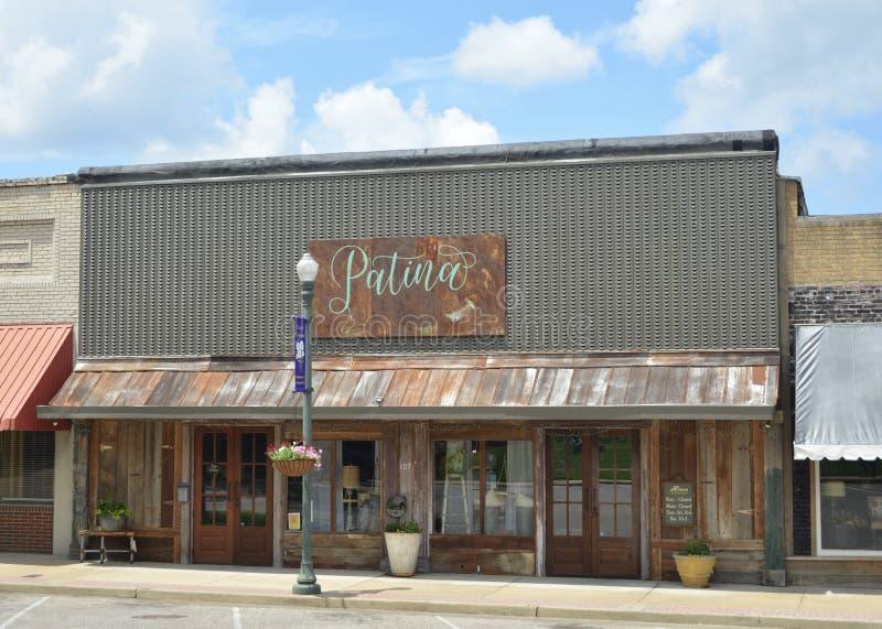 Arte y tienda casera de la decoración, Covington, TN de la pátina imagen de archivo