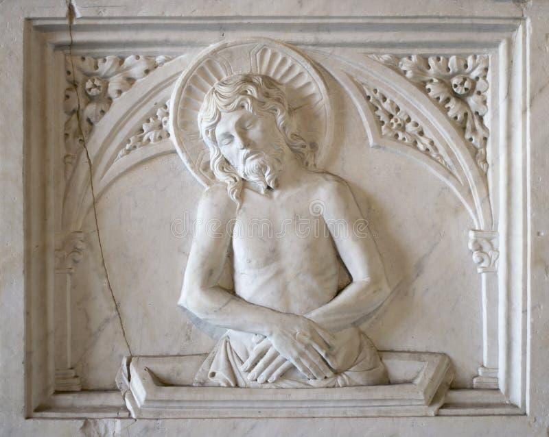 Artefacto de la tumba en Campo Santo (Pisa, campo de milagros) foto de archivo libre de regalías