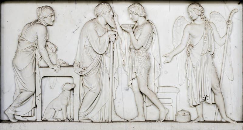 Artefacto de la tumba en Campo Santo (Pisa, campo de milagros) fotografía de archivo