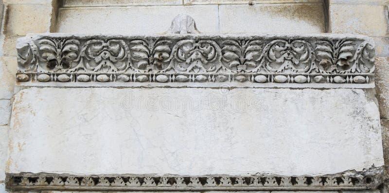 Artefacto de piedra de la tableta de Pisa foto de archivo