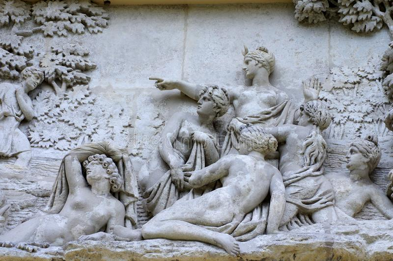 Artemis bogini polowanie fotografia stock