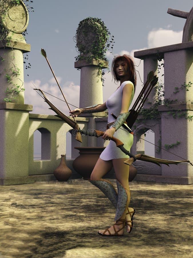 Artemis de jaagster stock illustratie