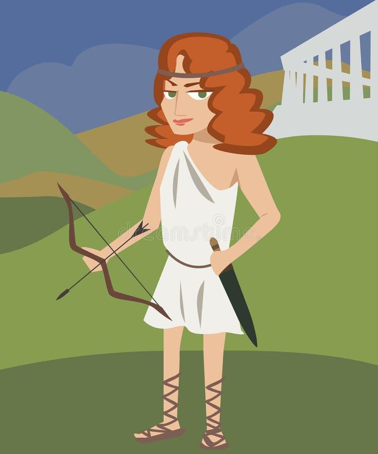 Artemis-deity vector illustratie
