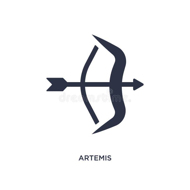 artemis Ikone auf weißem Hintergrund Einfache Elementillustration von Griechenland-Konzept vektor abbildung