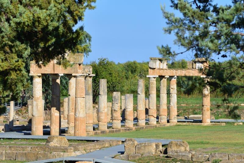 Artemis van Vravrona-tempel, Griekenland stock afbeelding