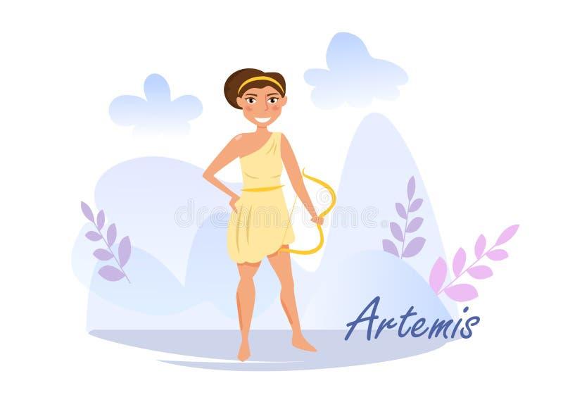 Artemis Vector Cartoon Isolated Art On White Background