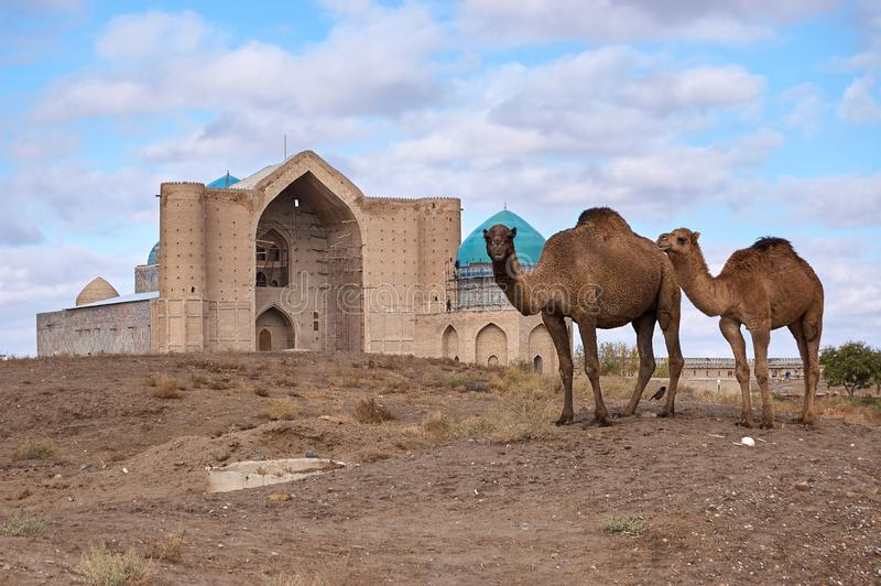 Arten der Stadt von Turkestan lizenzfreie stockbilder