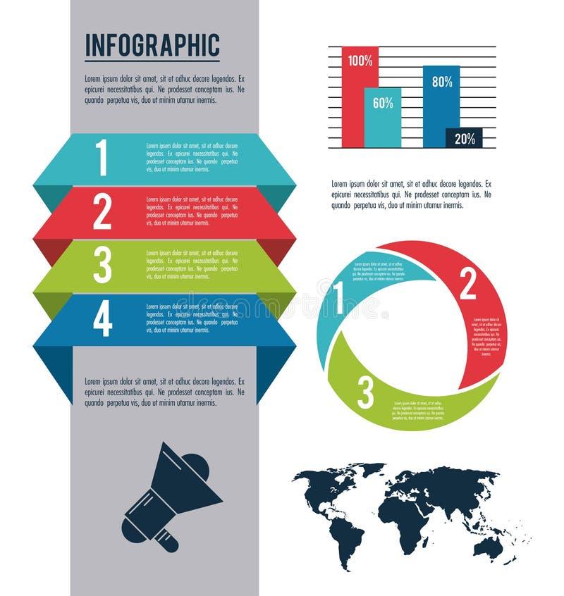Arten und Organisation Infographic stock abbildung