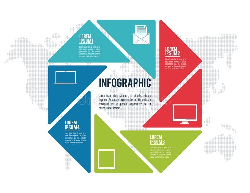 Arten und Organisation Infographic lizenzfreie abbildung