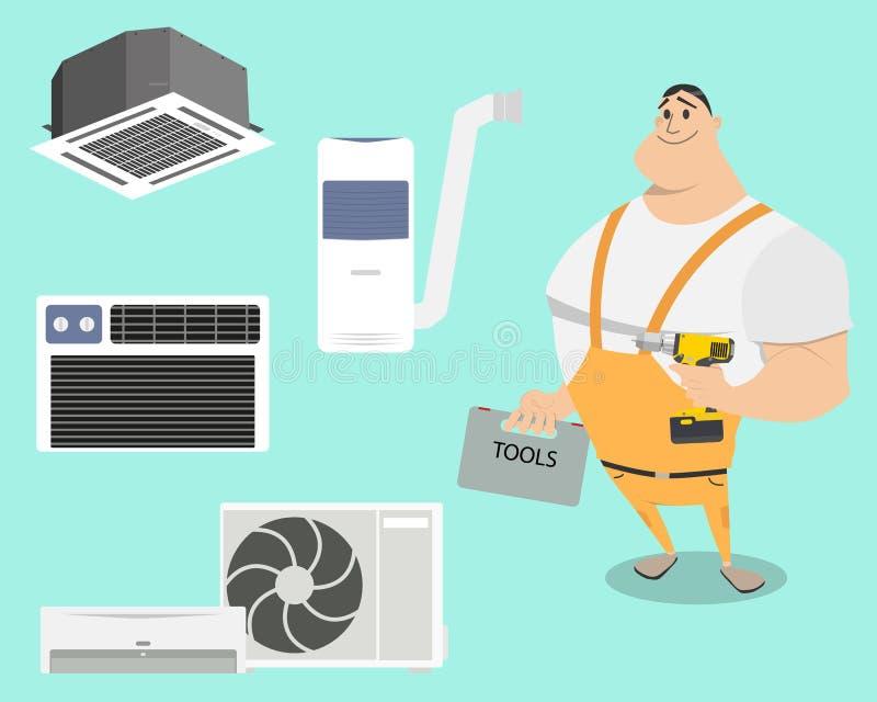 Arten von Klimaanlagen vektor abbildung