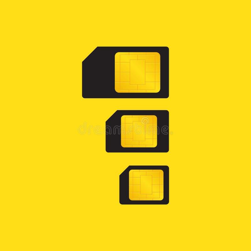 Arten von SIM-Karten stock abbildung