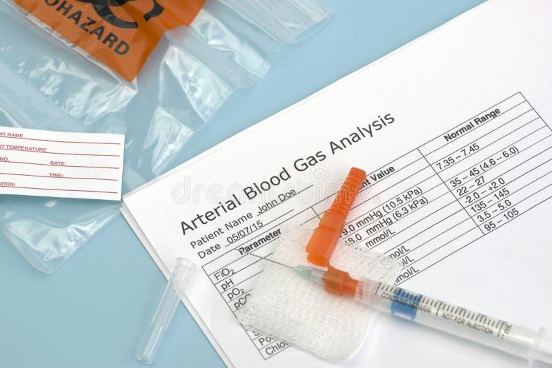 Arterialna Krwionośnego gazu strzykawka zdjęcie royalty free