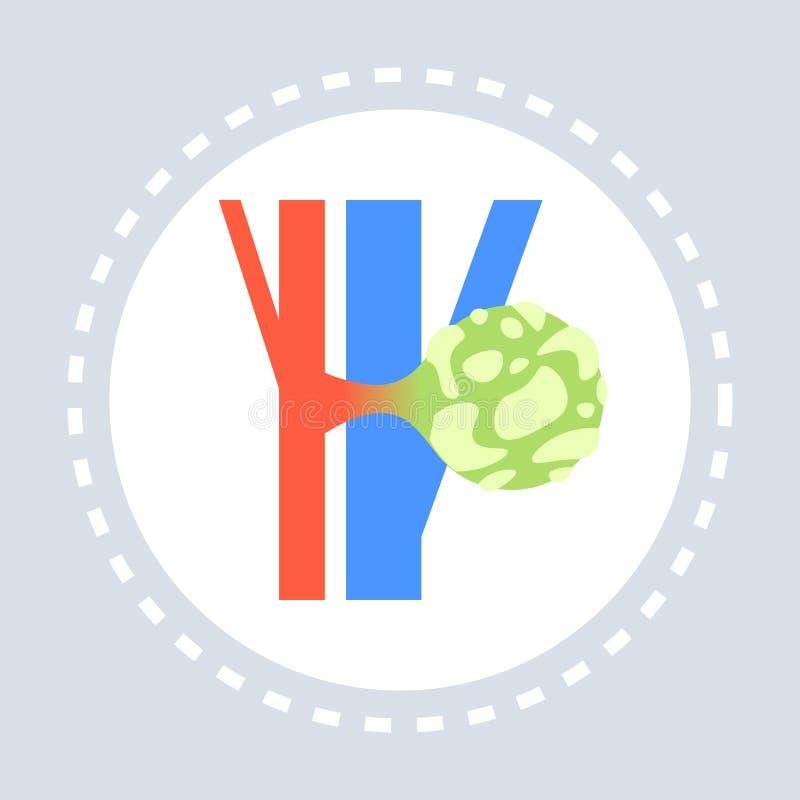 Arterii i żyły choroby opieki zdrowotnej usługi zdrowotnej logo medycyna i zdrowie symbolu pojęcia mieszkanie ilustracja wektor