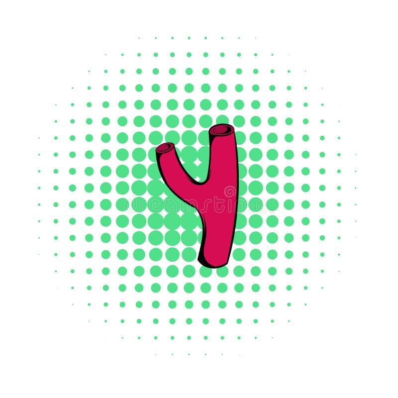 Arterii ikona, komiczka styl royalty ilustracja