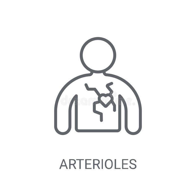 Arterioles pictogram In Arterioles embleemconcept op witte backgro vector illustratie