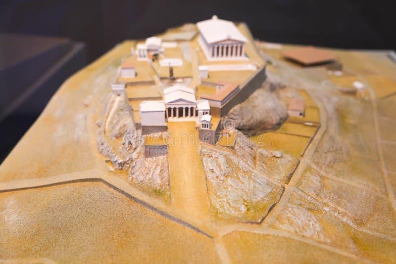 Artes da acrópole no museu de Atenas Grécia fotografia de stock royalty free