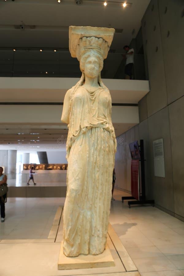 Artes da acrópole no museu de Atenas Grécia fotos de stock royalty free