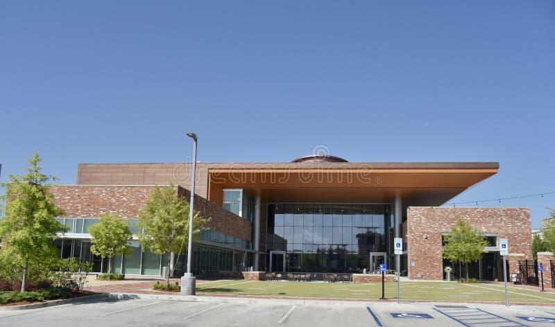 Artes de Mississippi y entrada posterior del edificio de la experiencia del entretenimiento, meridiano céntrico, Mississippi imagen de archivo