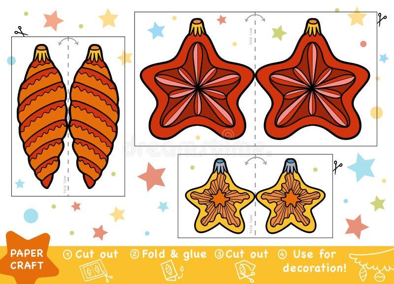 Artes de papel de la educación para los niños, la estrella de la Navidad y los juguetes libre illustration