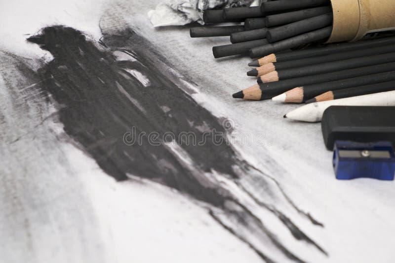 Artes del carbón de leña foto de archivo