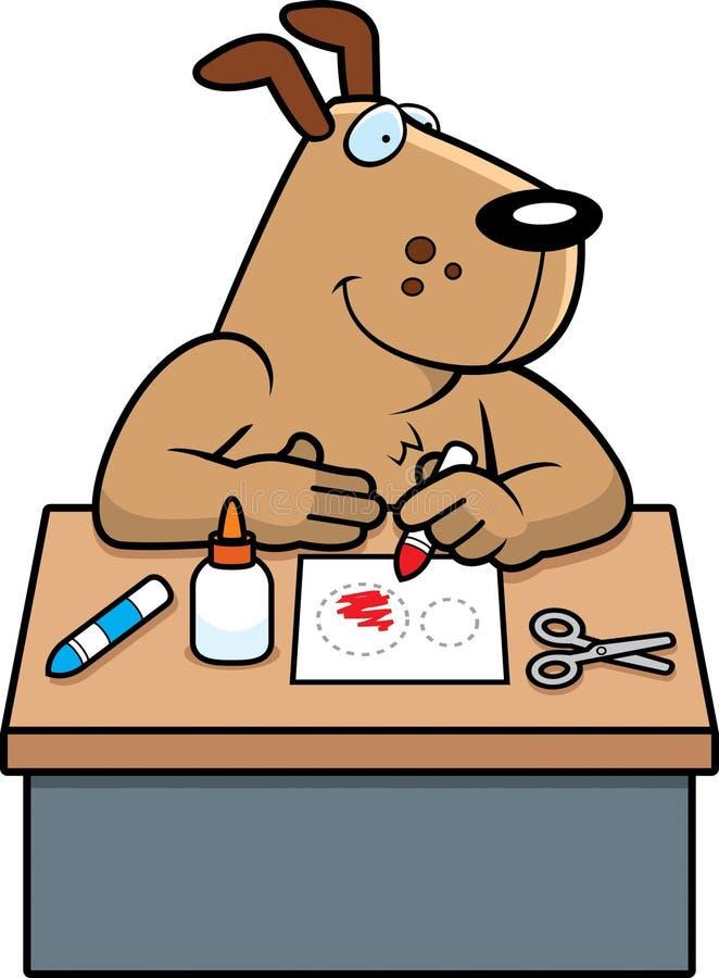 Artes del perro de la historieta stock de ilustración